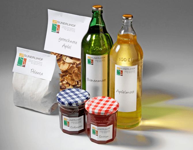Produkte Sunerlihof